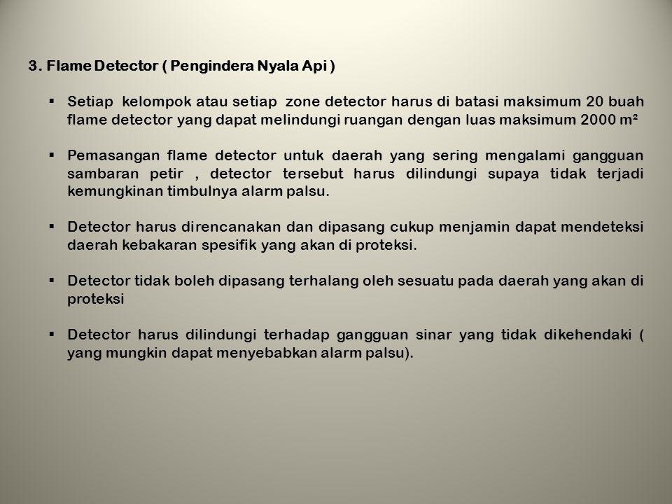 Penempatan dan Jarak pemasangan Detector Kebakaran : 1.Smoke Detector ( Pengindera Asap)  Smoke Detector tidak boleh dipasang dalam jarak kurang dari