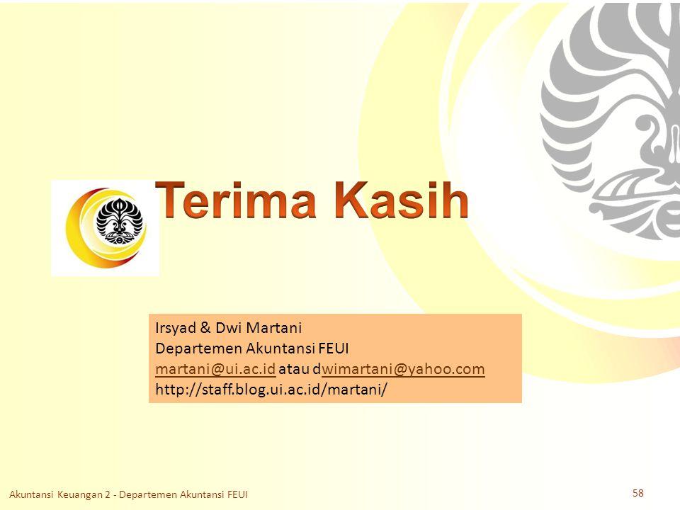 Slide OCW Universitas Indonesia Oleh : Irsyad & Dwi Martani Departemen Akuntansi FEUI Irsyad & Dwi Martani Departemen Akuntansi FEUI martani@ui.ac.idm