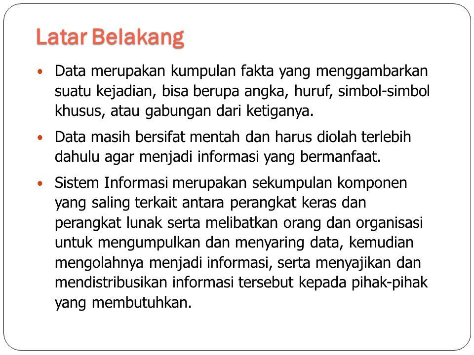 Latar Belakang (lanjutan)  Dalam konteks perencanaan program Pendidikan Islam, data dan informasi pendidikan merupakan dasar acuan di dalam proses perencanaan anggaran program Pendidikan Islam.