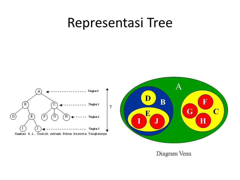 E Representasi Tree Diagram Venn A B C E D IJ F G H