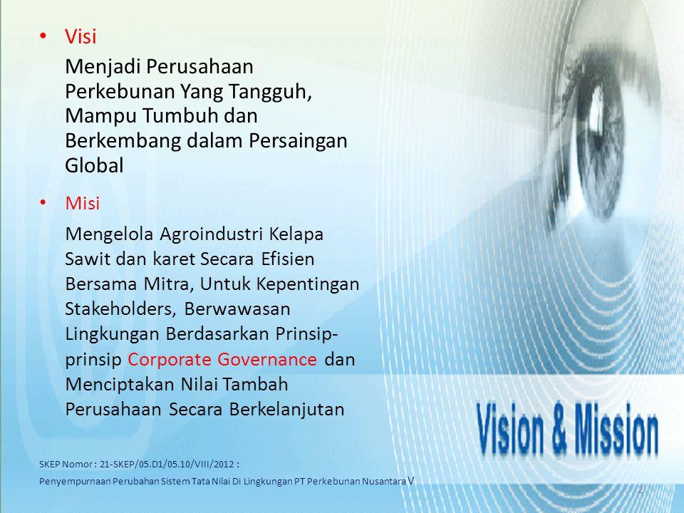 MOU PTPN V DENGAN BPKP Pengembangan, Penerapan Dan Penguatan Tata Kelola Perusahaan Yang Baik Pada PT Perkebunan Nusantara V (Persero) 27 September 2012 13