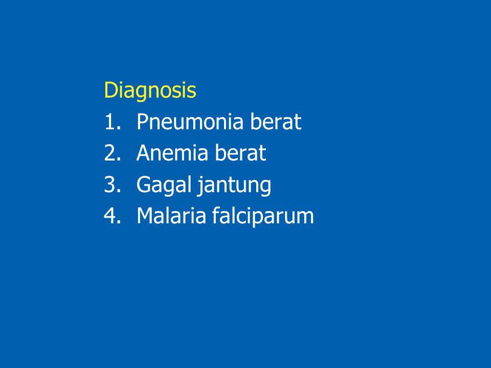 Diagnosis 1.Pneumonia berat 2.Anemia berat 3.Gagal jantung 4.Malaria falciparum