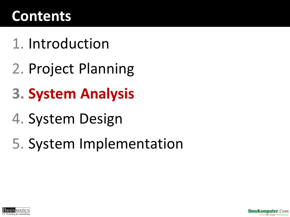 Recap  Identifying the business value of the new project is a key to success  The system request describes an overview of the proposed system.