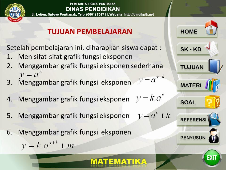 PEMERINTAH KOTA PONTIANAK DINAS PENDIDIKAN Jl. Letjen.