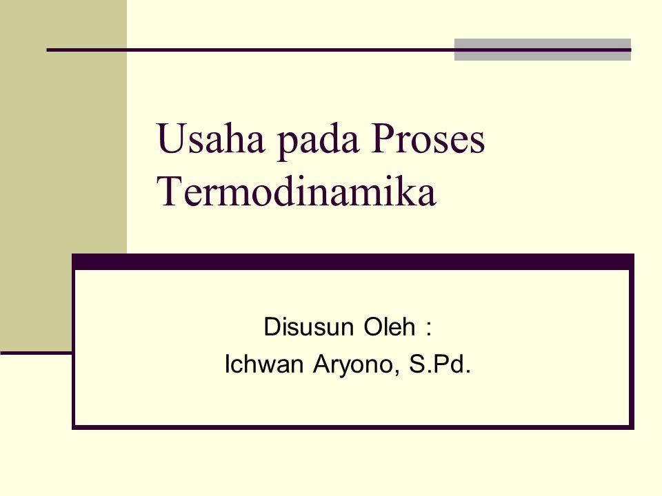 Usaha pada Proses Termodinamika Disusun Oleh : Ichwan Aryono, S.Pd.
