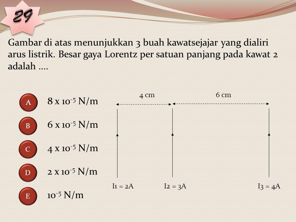 Dari gambar di atas maka besarnya hambatan R adalah..... 2,0 Ω 3,0 Ω 4,0 Ω 5,0 Ω 6,0 Ω A C B E D 6 V 1 Ω R