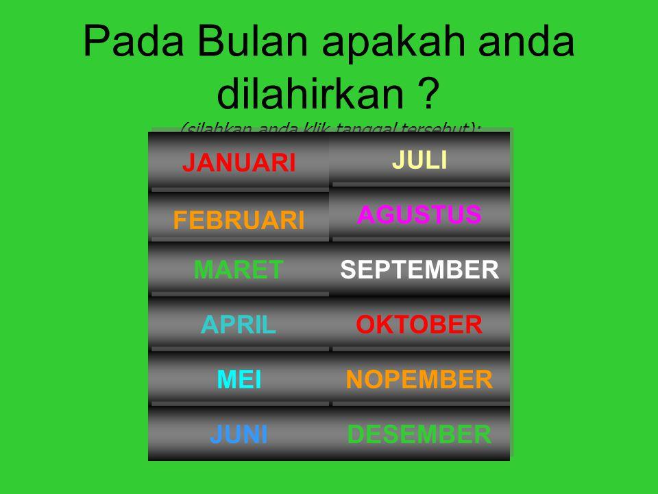 Pada Tahun berapakah anda dilahirkan.