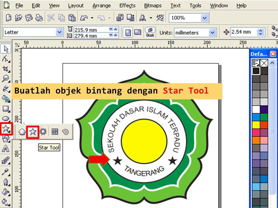 Buatlah objek bintang dengan Star Tool