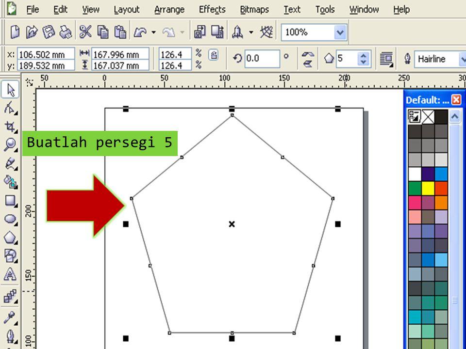 Beri warna putih bagian dalam lingkaran dengan color palettes atau Fill Tool Klik Outline Tool kemudian Outline Pen Dialog