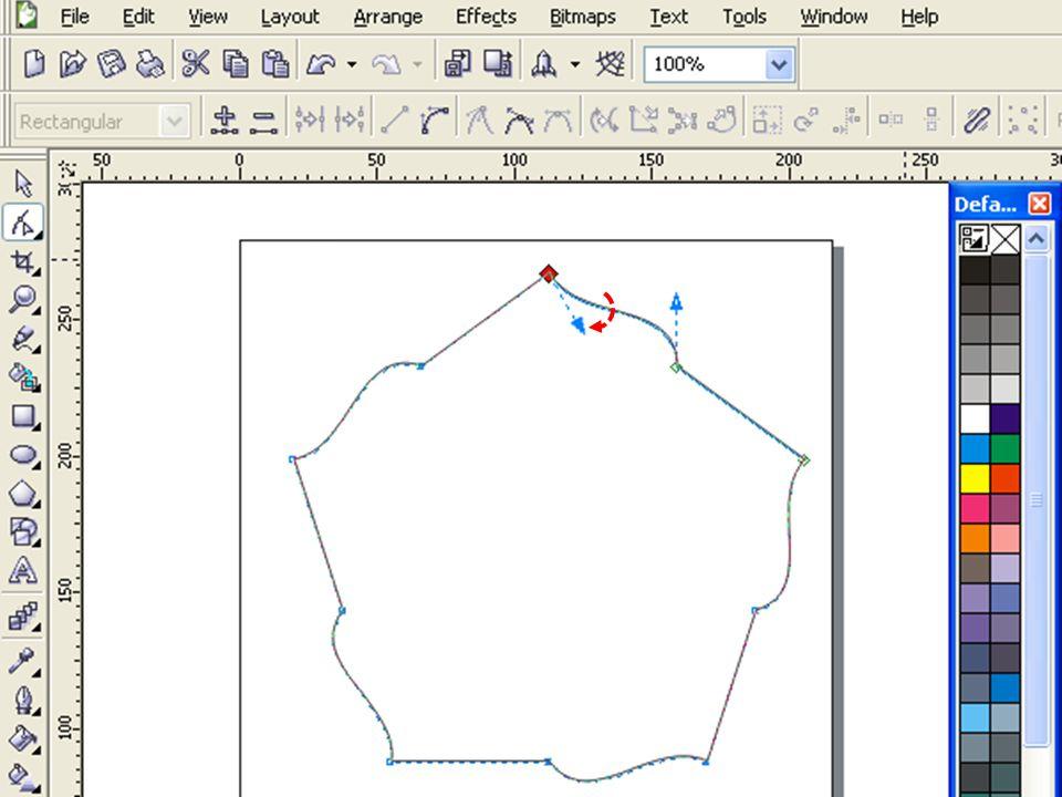 Klik Outline Tool kemudian Outline Pen Dialog