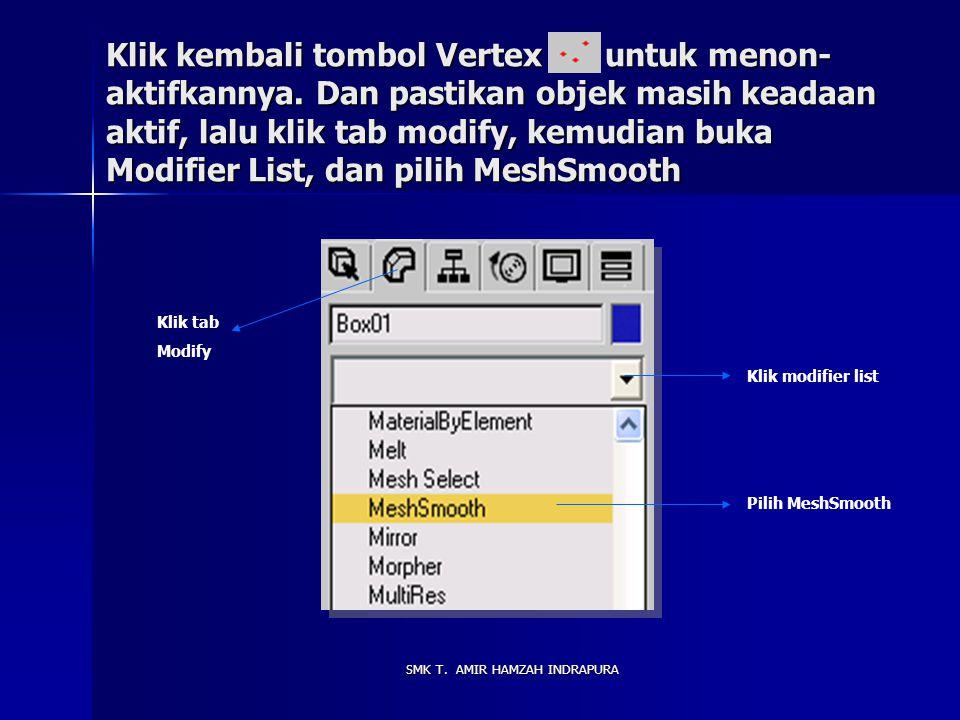 Klik kanan pada tombol Select and Move Setelah tampil kotak dialog, dalam group Offset:Screen beri nilai X = 5, lalu tekan Enter dan tutup kotak dialognya.