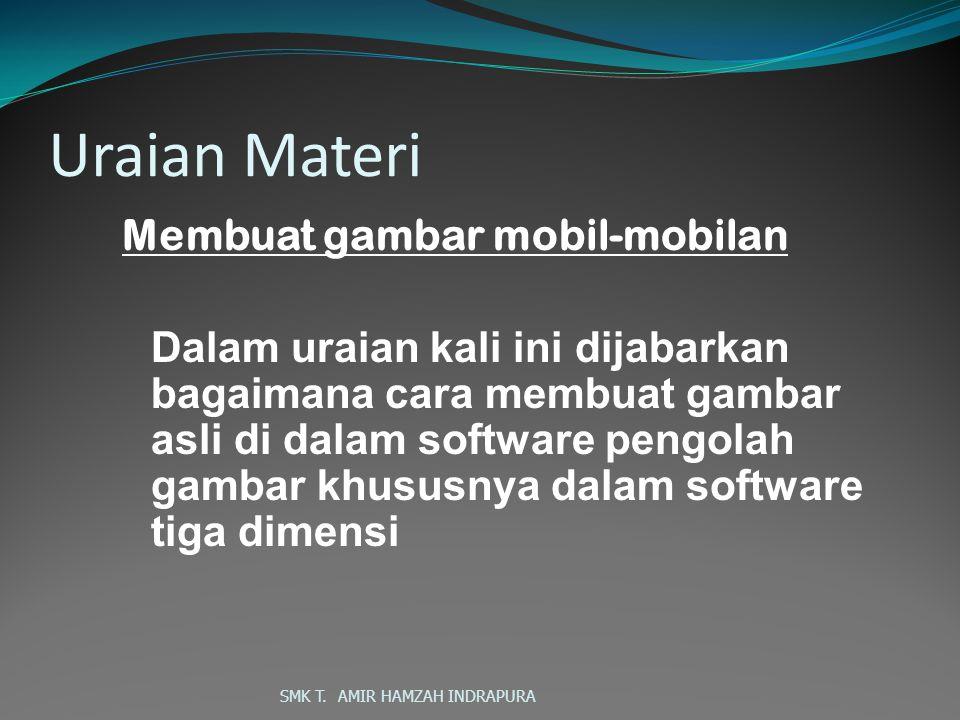 SMK T.AMIR HAMZAH INDRAPURA Buka rollout Edit Polygon, lalu klik kotak setting Extrude.