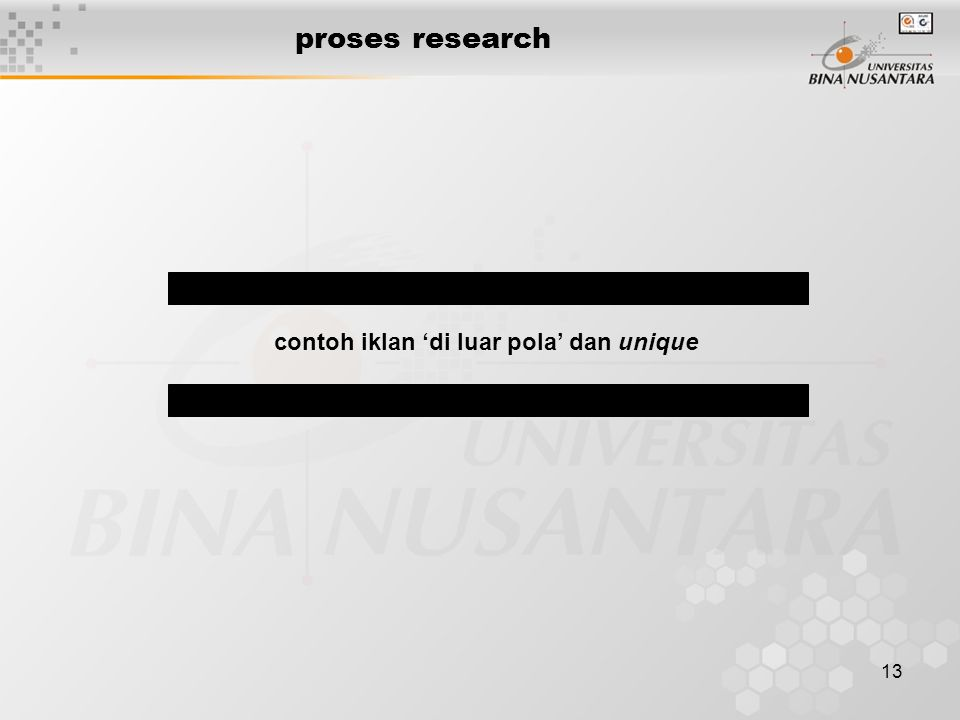 13 proses research contoh iklan 'di luar pola' dan unique