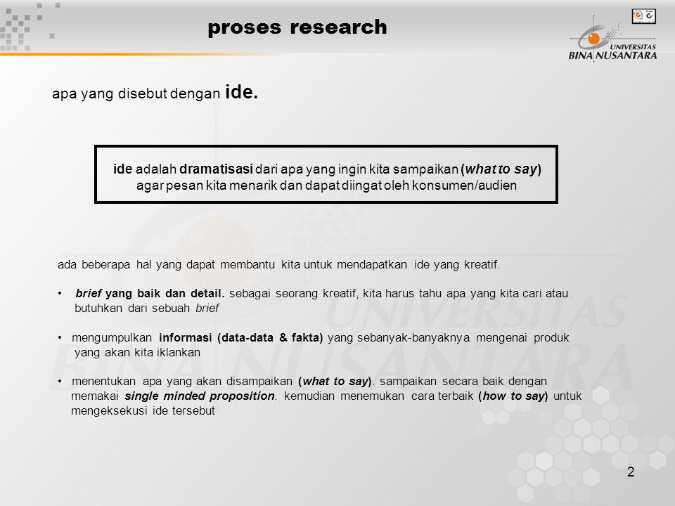 2 proses research apa yang disebut dengan ide.