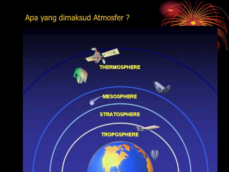 INDIKATOR : MATERI PEMBELAJARAN : A t m o s f e r - Ciri-ciri lapisan atmosfer - Unsur- unsur cuaca 1.Mengungkapkan kembali ciri-ciri lapisan atmosfer