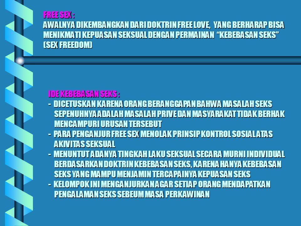 PATOKAN PENDIDIKAN SEX ADA TIGA PATOKAN PENDIDIKAN SEX YANG COCOK BAGI ANAK-ANAK DAN REMAJA DI INDONESIA (DADANG HAWARI,1993).