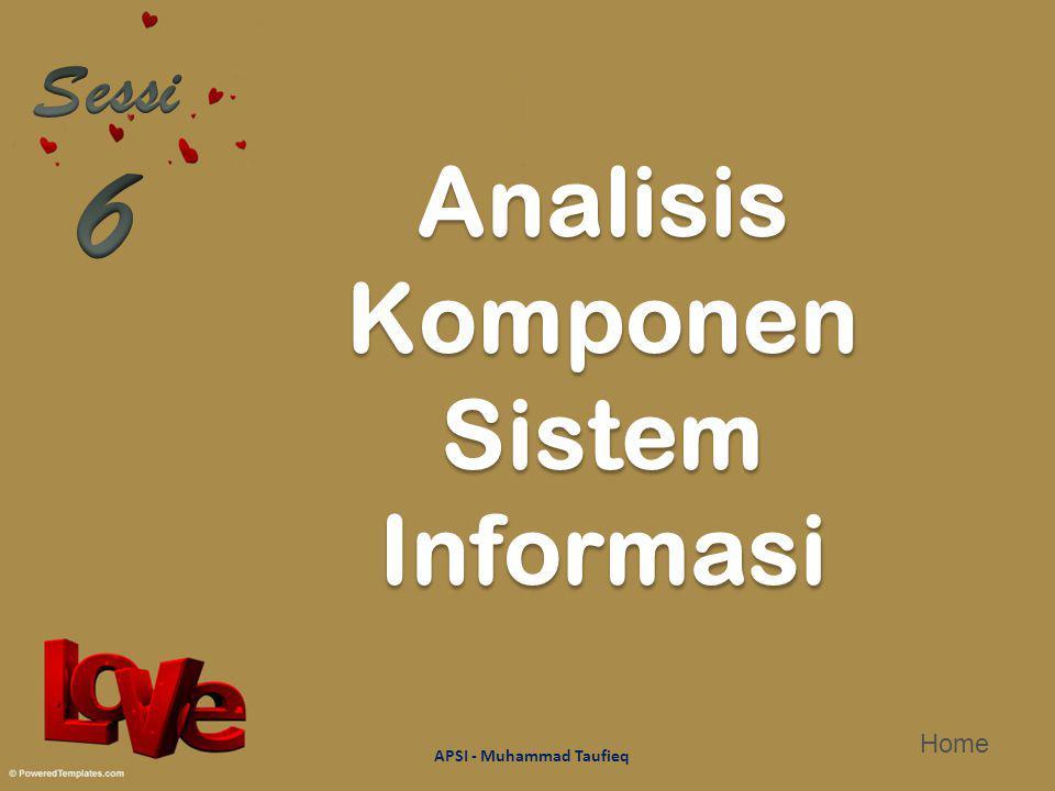 Analisis Komponen Sistem Informasi APSI - Muhammad Taufieq Home