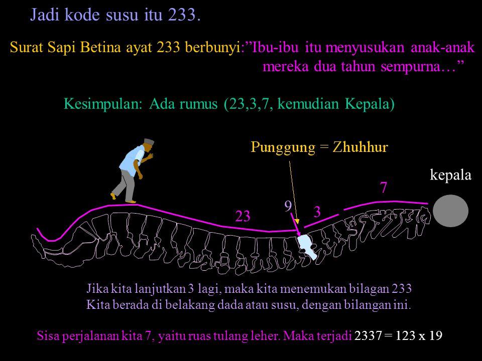 Pada Al-Quran hanya ada 4 surat yang membentuk lingkaran pada Graff no surat-jumlah ayat. Yaitu : Surat ke 78 ayatnya 40 Surat ke 40 ayatnya 85 Surat