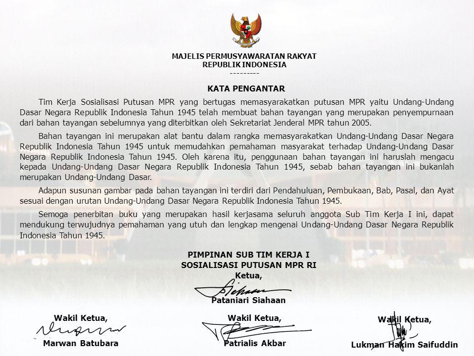 DPR Presiden pertimbangan memilih calon diresmikan BAB VIIIA.