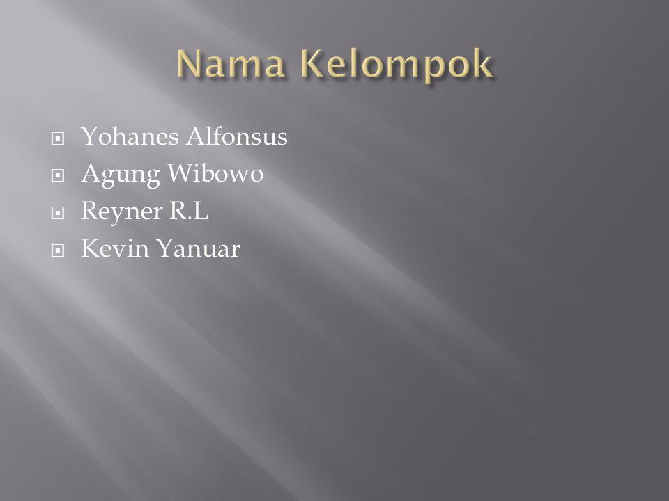  Yohanes Alfonsus  Agung Wibowo  Reyner R.L  Kevin Yanuar