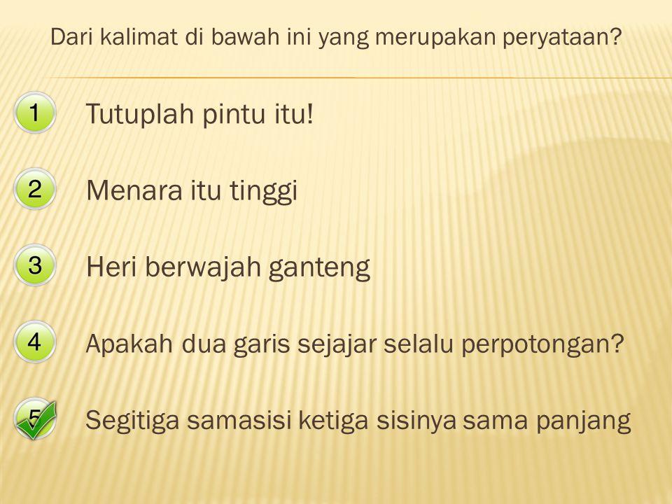 Guru Matematika SMA PANGUDI LUHUR Yogyakarta Mari belajar bersama saya dengan topik Matematika