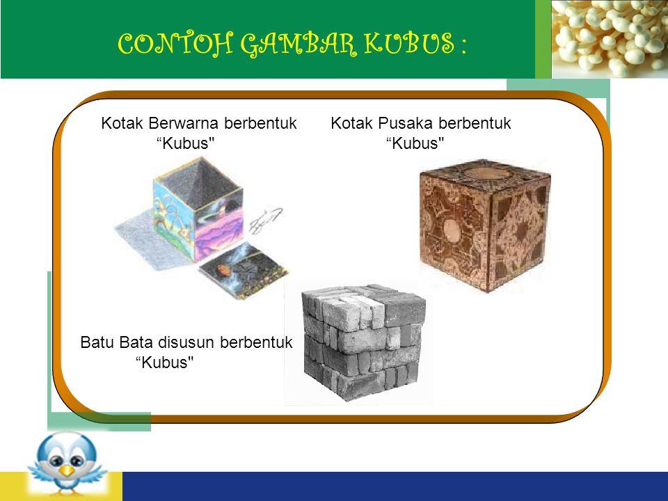 LOGO CONTOH GAMBAR KUBUS : Kotak Berwarna berbentuk Kubus Kotak Pusaka berbentuk Kubus Batu Bata disusun berbentuk Kubus