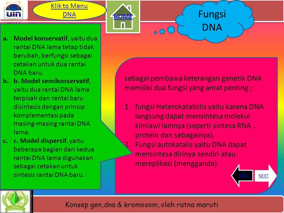 Konsep gen,dna & kromosom, oleh ratna maruti Denaturasi dan renaturasi DNA • Denaturasi DNA yaitu suatu proses pemanasan DNA dengan penambahan senyawa