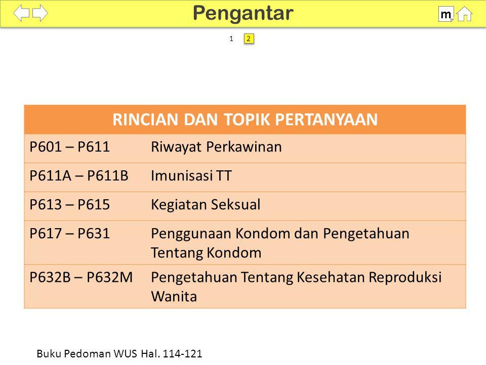 100% SDKI 2012 P601-P604 m Buku Pedoman WUS Hal. 114 RALAT