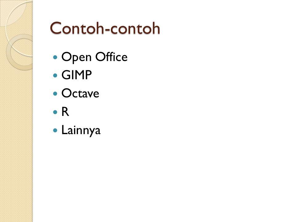Contoh-contoh  Open Office  GIMP  Octave RR  Lainnya