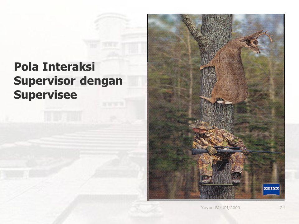 Pola Interaksi Supervisor dengan Supervisee 24Yoyon BI/UPI/2009