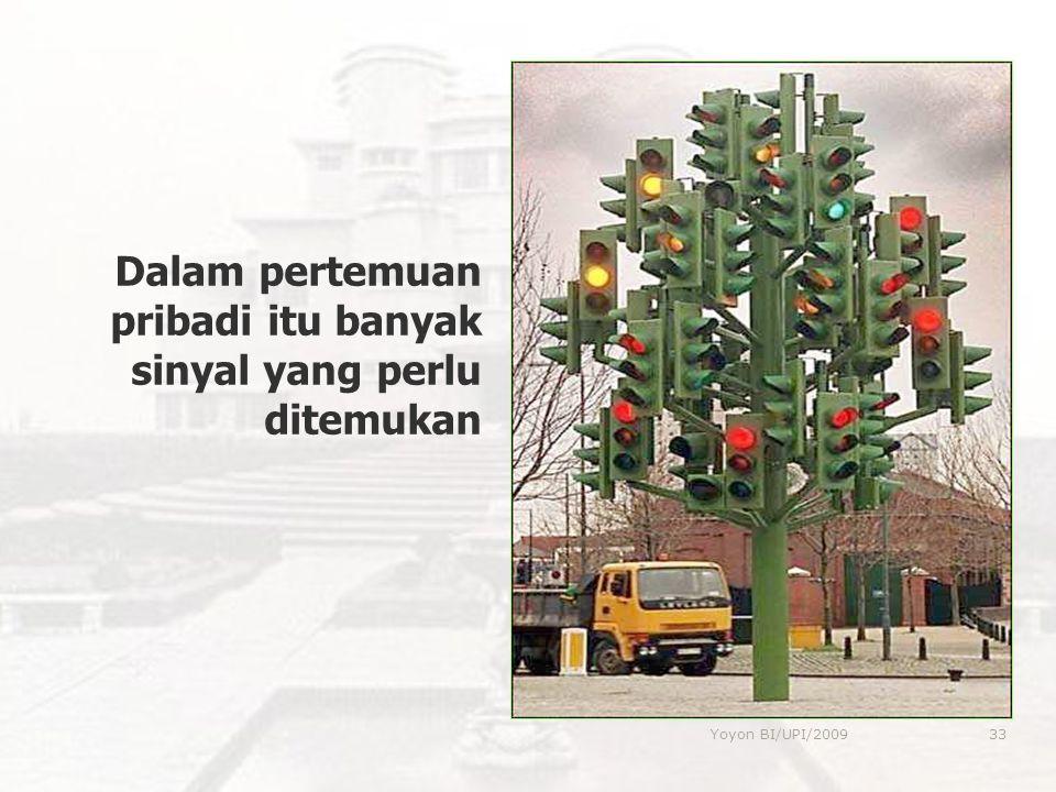 Dalam pertemuan pribadi itu banyak sinyal yang perlu ditemukan 33Yoyon BI/UPI/2009
