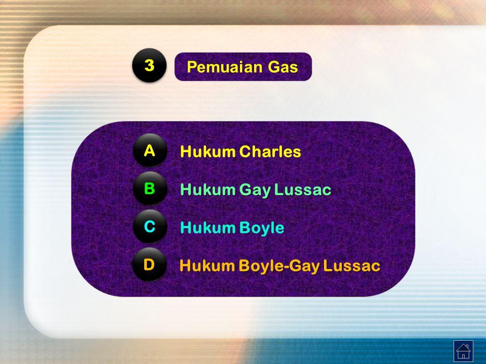 Seperti halnya pada air,gas hanya mengalami pemuaian volume saja.