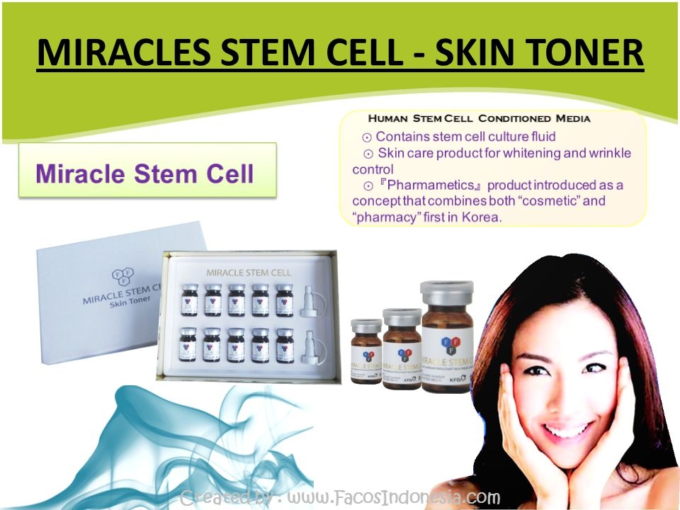 MIRACLES STEM CELL - SKIN TONER Created by : www.FacosIndonesia.com