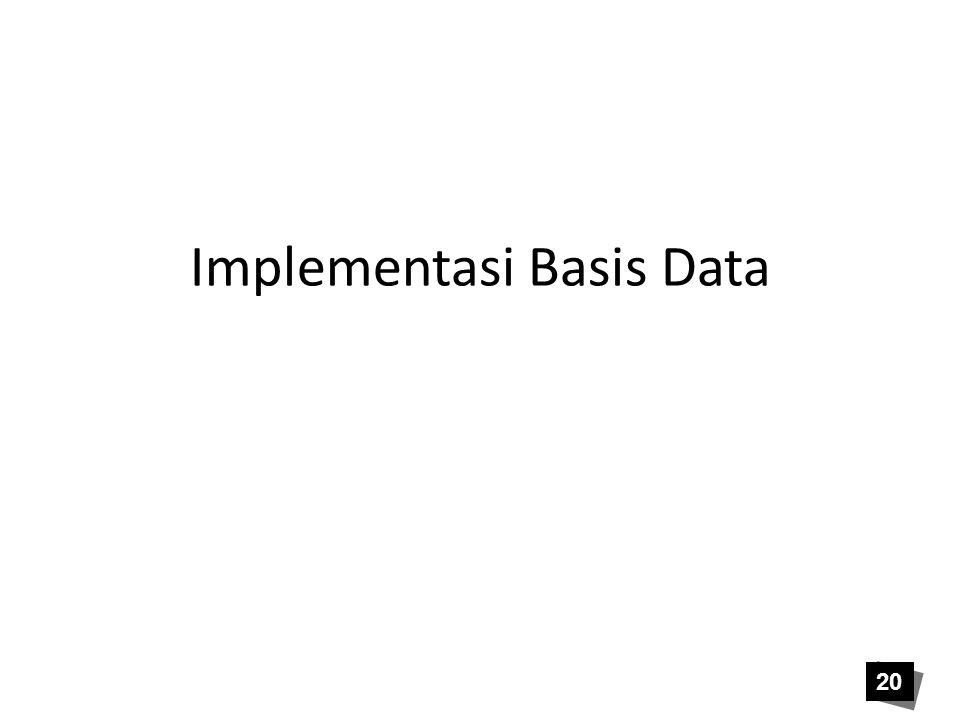 Implementasi Basis Data 20