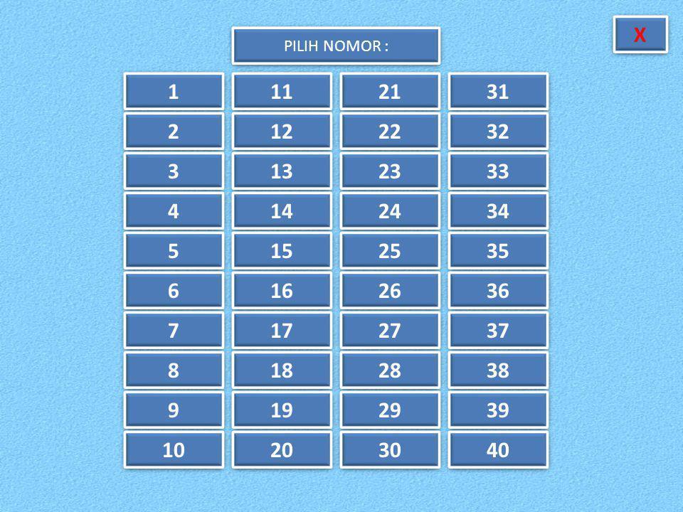 38.Mean dari data : 3, 8, 5, 6, 9, 4, 7, 8, 5, 5 adalah....