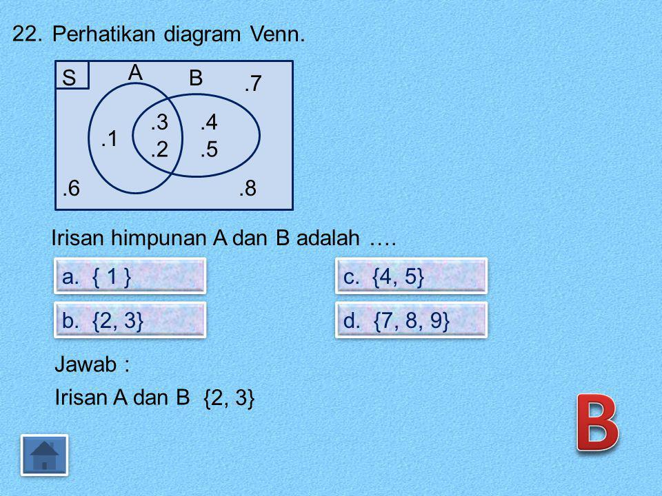 21. Diketahui segitiga samakaki dengan panjang 2x cm dan panjang kaki (2x + 1) cm. Jika keliling segitiga 20 cm, maka panjang alasnya adalah …. a. 3 c