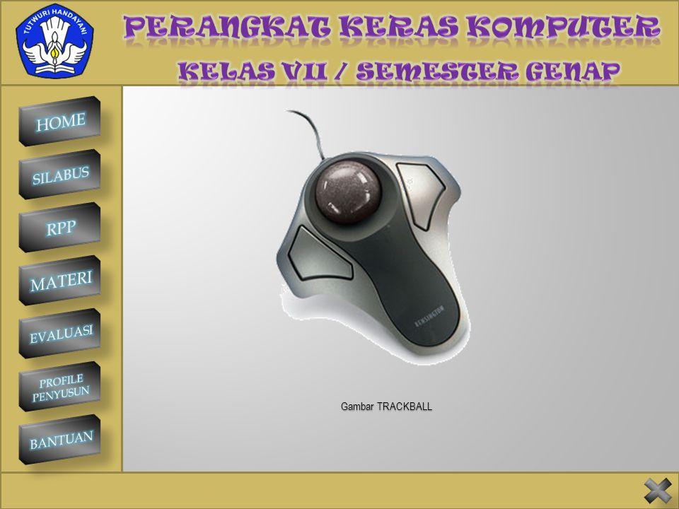 SMP NEGERI 1 KINTAMANI TRACKBALL Trackball memiliki fungsi yang sama dengan mouse, yaitu untuk memilih perintah-perintah dari menu tampilan grafis. Be