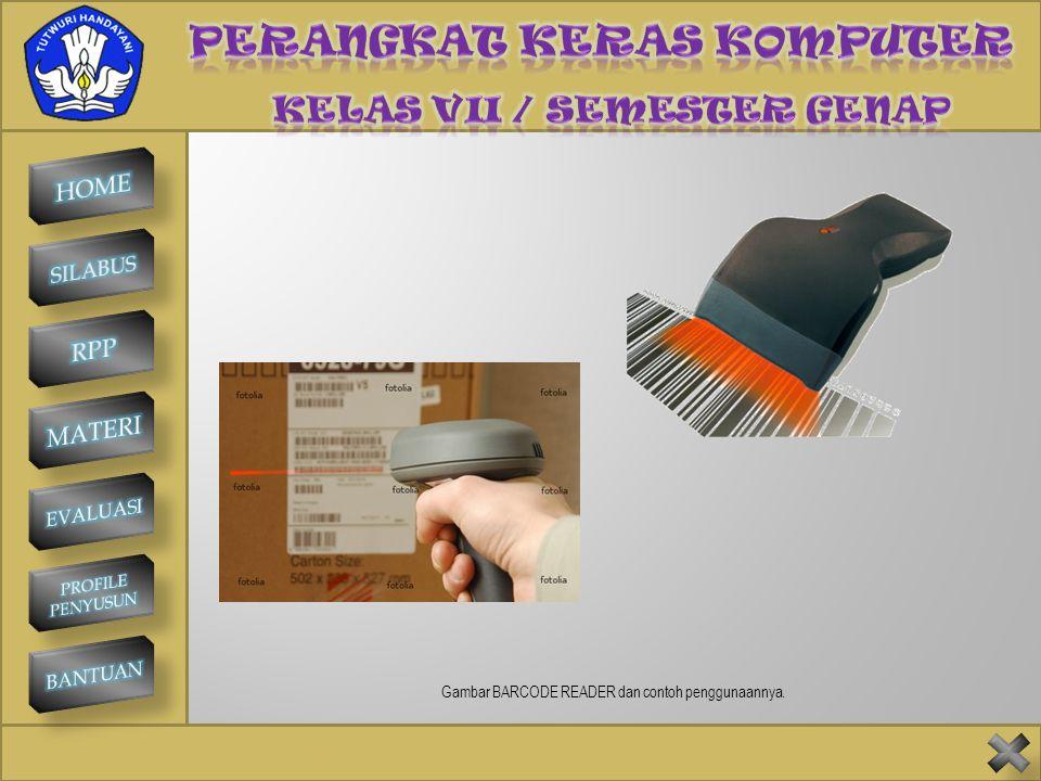SMP NEGERI 1 KINTAMANI BARCODE READER Barcode adalah pola garis hitam-putih yang umum dijumpai pada barang-barang yang dijual di toko-toko swalayan un