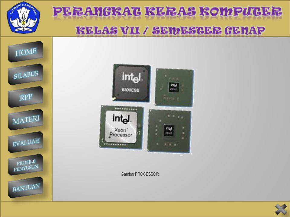 SMP NEGERI 1 KINTAMANI PROCESSOR Processor adalah salah satu bagian terpenting di dalam komputer. Processor dapat diibaratkan sebagai otak pada manusi