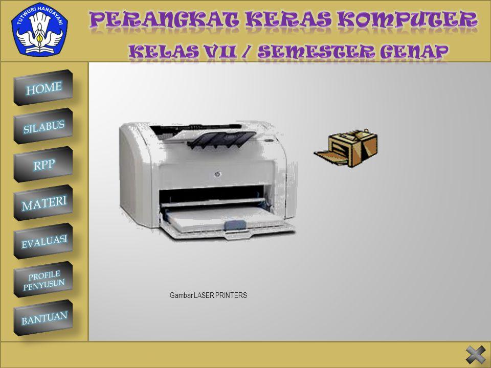 SMP NEGERI 1 KINTAMANI PRINTER Printer adalah perangkat keluaran yang menghasilkan data berupa hasil cetakan pada kertas sebagai medianya. Jenis-jenis