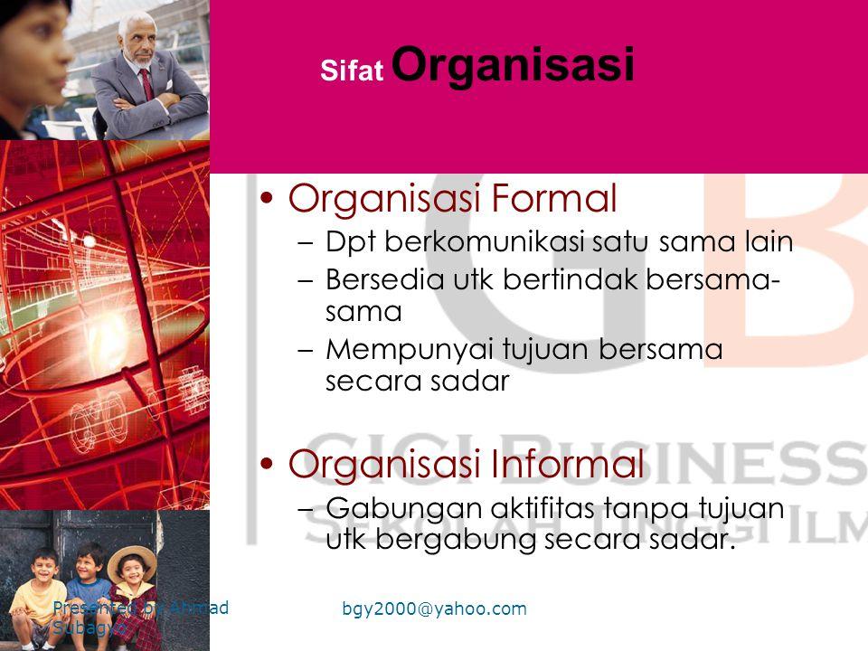 Unsur-unsur inti Organisasi •P•Penetapan stuktur peran Lini, staf, fungsional •P•Pengelompokkan aktifitas Departementalisasi •K•Koordinasi antar wewen