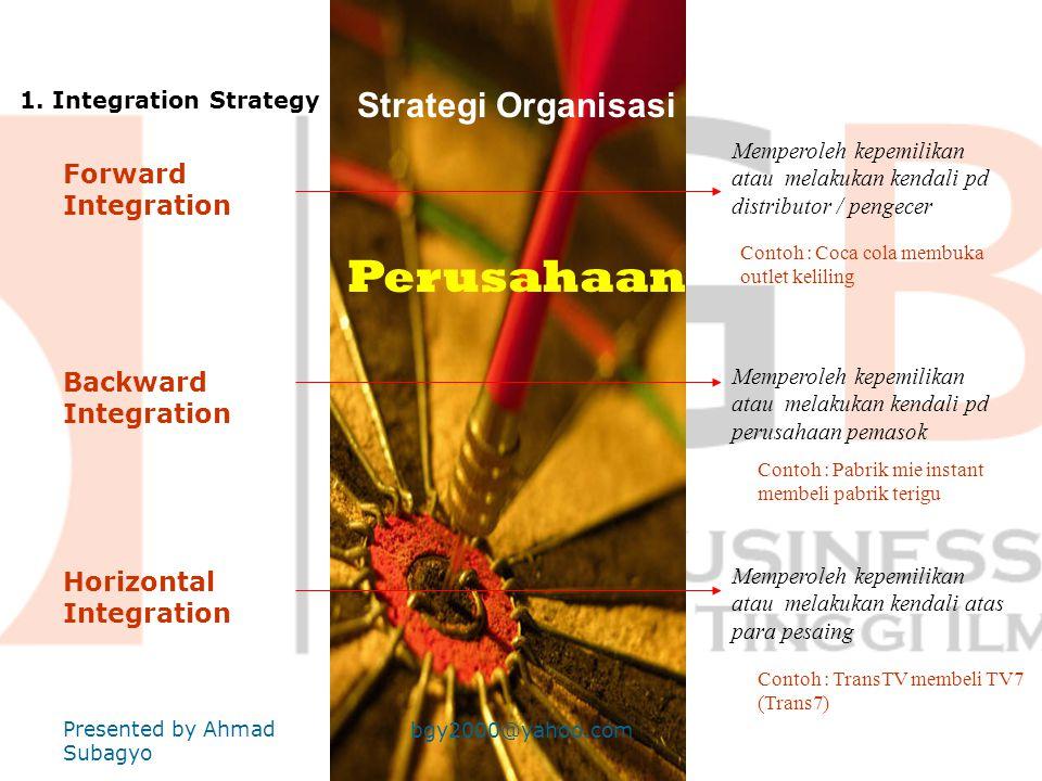 PERTEMUAN KEENAM MANAJEMEN STRATEGI •Strategi Bersaing •Boston Consulting Group (BCG) Presented by Ahmad Subagyo bgy2000@yahoo.com