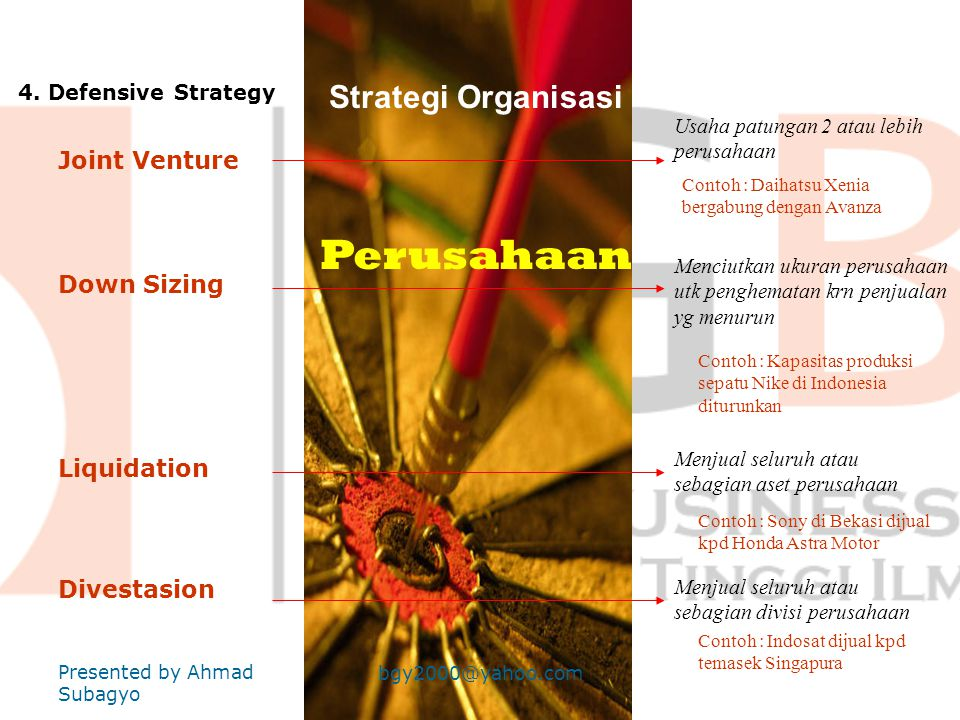 Strategi Organisasi Perusahaan 3.