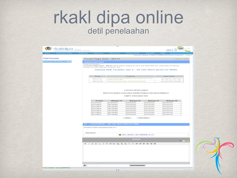 rkakl dipa online detil penelaahan