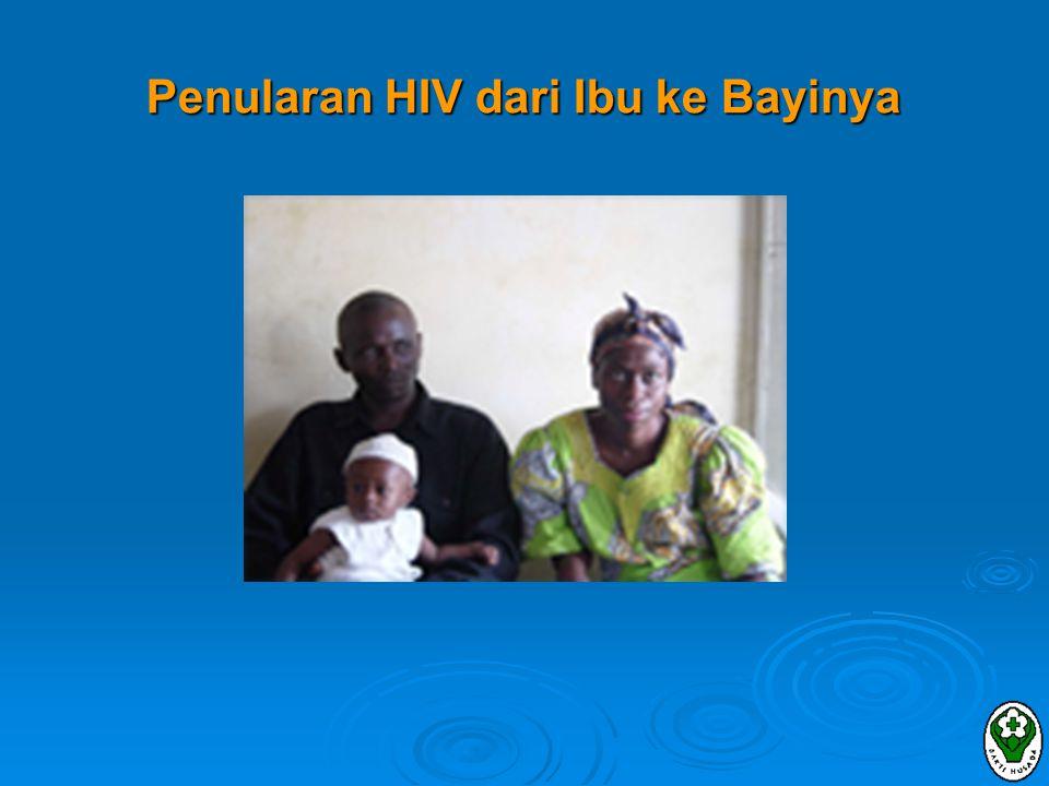 ASI vs Susu Formula Miotti, dkk: ASI meningkatkan risiko transmisi HIV Usia 0-5 bulan0,7%/bulan usia 6-11 bulan0,6%/bulan Usia 12-17 bulan0,3%/bulan Leroy, dkk: risiko melalui ASI 3,2 per 100 anak-tahun Negara maju direkomendasikan menghindari ASI ibu HIV Negara berkembang .