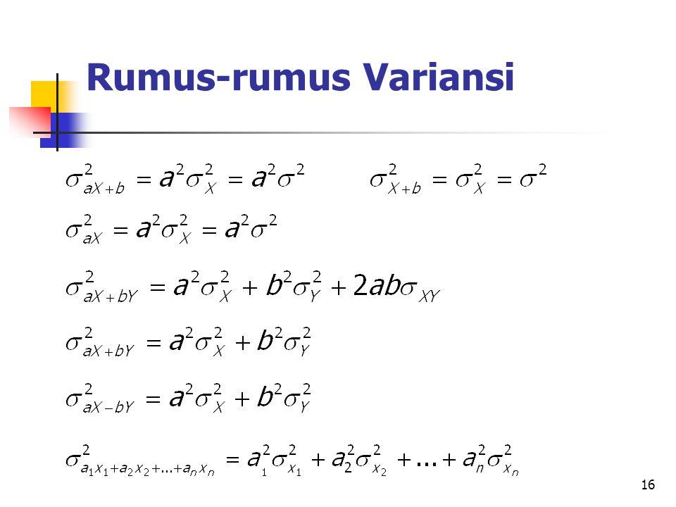 16 Rumus-rumus Variansi
