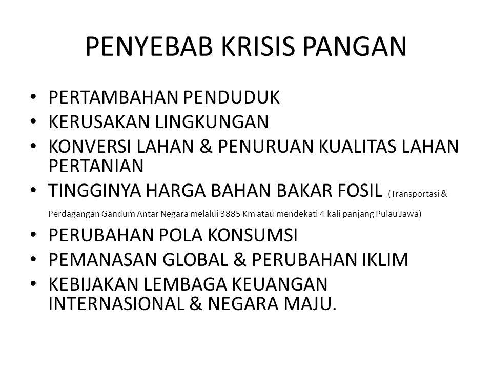 PERKIRAAN KRISIS PANGAN • INDONESIA MENGALAMI KRISIS PANGAN PADA TAHUN 2017 .