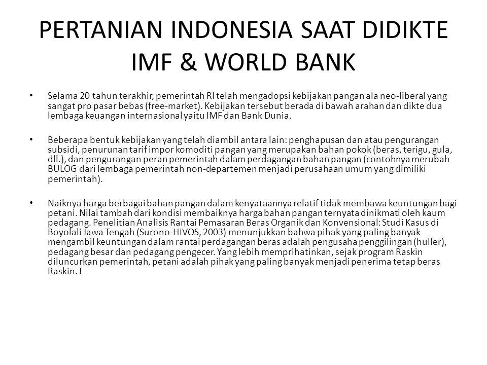 3 TAHUN IMPLEMENTASI RPJMN DALAM BIDANG PERTANIAN • Di Indonesia, profesi petani merupakan sektor berpenghasilan terendah, berkisar 438.149/bulan dibandingkan upah buruh bangunan sebesar 734.070/bulan.