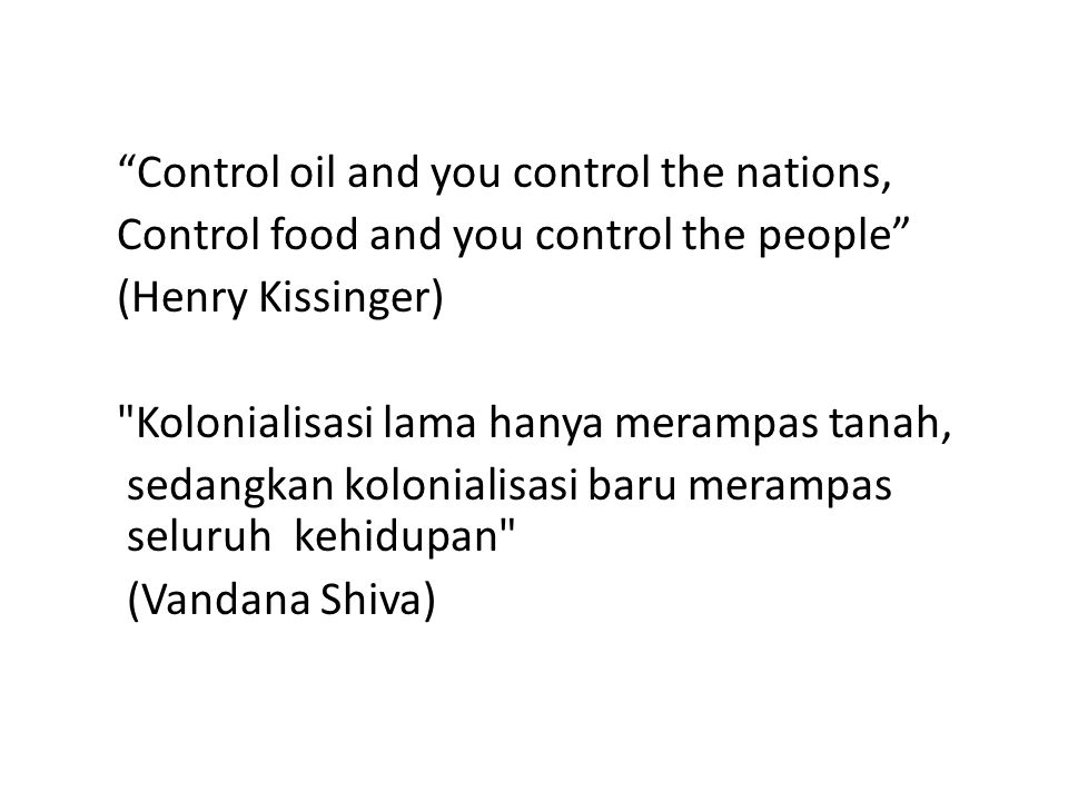 • Negara berusaha mempertahankan ketersediaan pangan, misalnya, baru-baru ini Presiden SBY menetapkan angka kenaikan produksi beras nasional sebesar 2 juta ton.