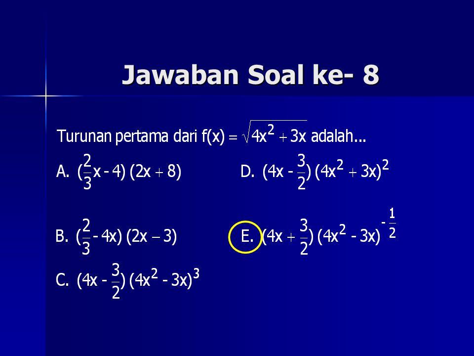 Jawaban Soal ke- 8
